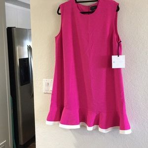 Victoria Beckham vibrant Pink dress NWT 1X